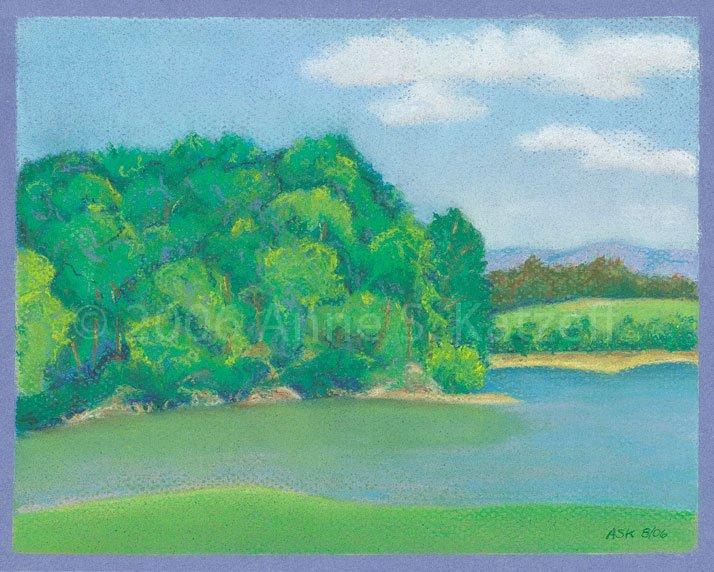 """Omega Afternoon"", Pastel: Omega Institute, Rhinebeck, NY. © 2006 Anne S. Katzeff"