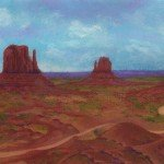Monument Valley, mixed media © 2014 Anne S. Katzeff.