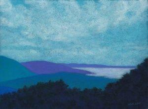 calendar event - open studios - Blue Ridges 3, pastel, © 2015 Anne S. Katzeff
