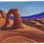 Painting Delicate Arch