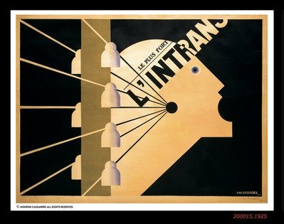 L'intransigeant, © 1925 A.M. Cassandre