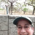 Selfie with an ostrich! LOL!