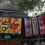 Painted textiles at Marula Market