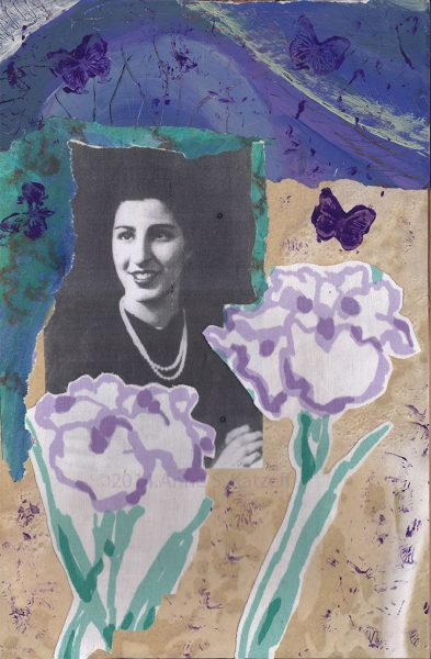 Louise: Boston 1944 (In Memory of My Mother), mixed media, © 2014 Anne S. Katzeff