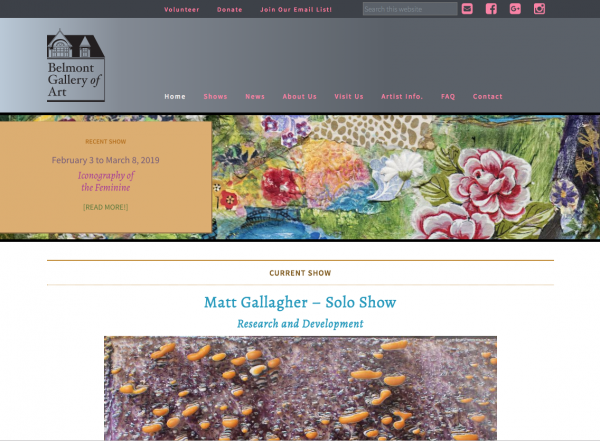 calendar event - BGA homepage screengrab