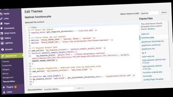 calendar event - Functions File screengrab