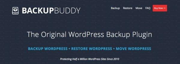 Backup Buddy home page
