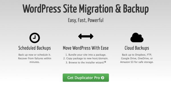 Duplicator home page