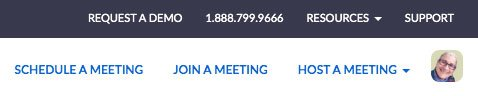 Zoom video conferencing meeting-options