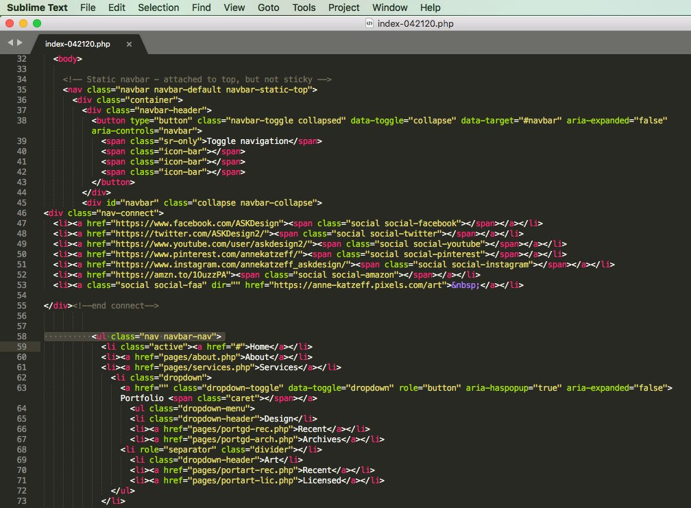Select the code editor you prefer for your toolset: Sublime Text 3 or Dreamweaver