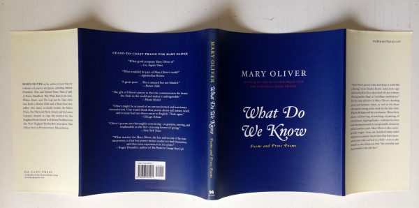 Book Jacket for Mary Oliver: What Do We Know