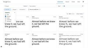 Google Fonts SansSerif