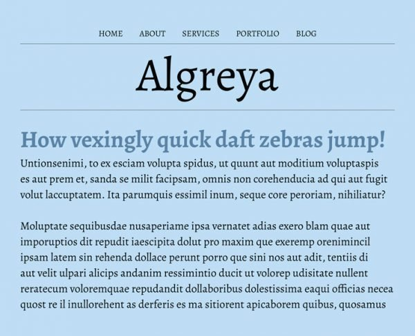 best google fonts - algreya