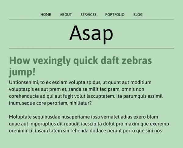 best fonts - asap