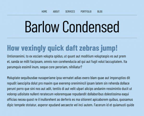 barlow condensed
