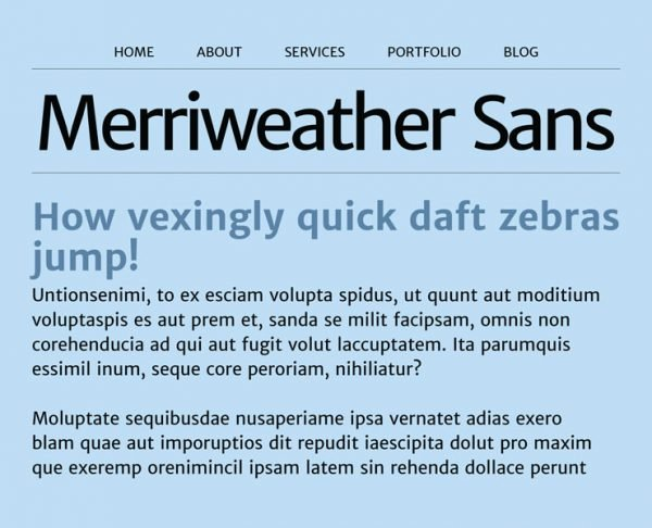 best google fonts - merriweather sans