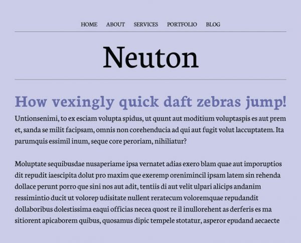 best google fonts - neuton