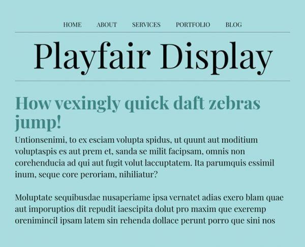 best google fonts - playfair display