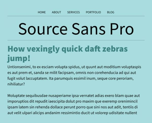 best google fonts - source sans pro