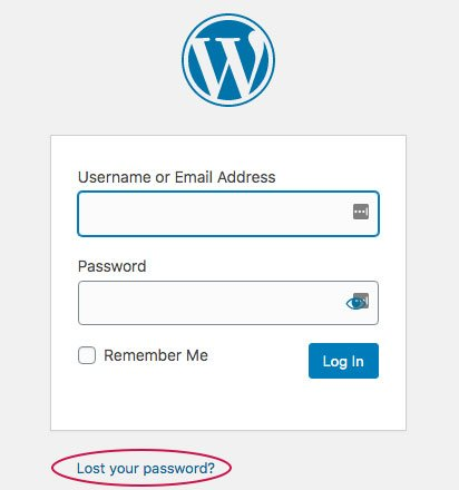 wp-login page