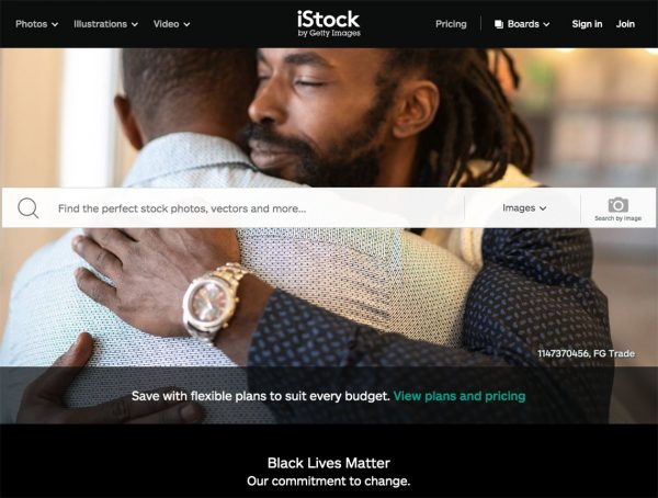 istock photo home page