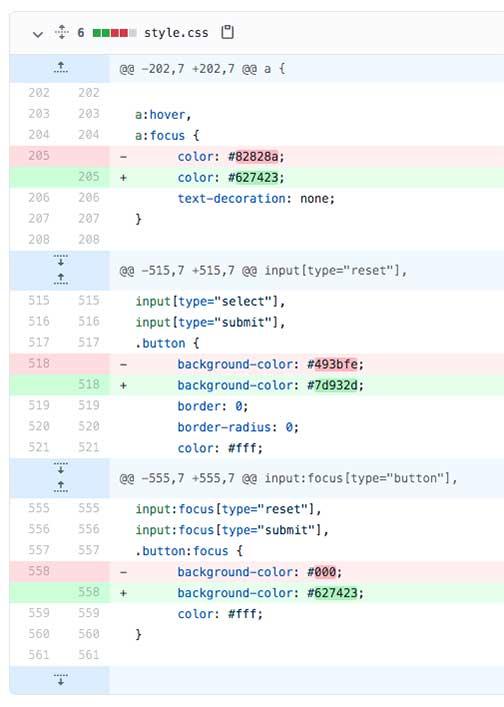 Workflow: Github GBDog CSS file