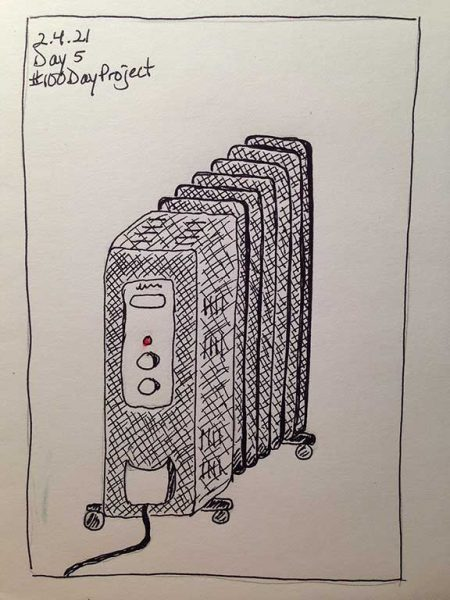 100DayProject - day 5 - space heater