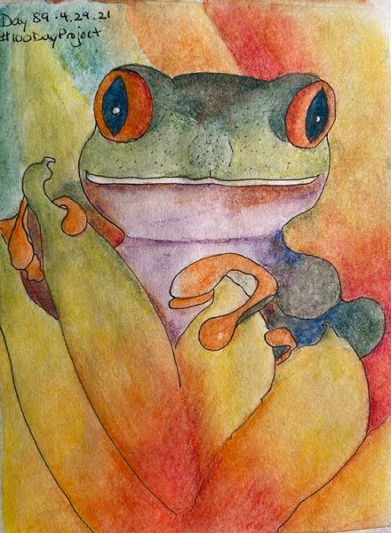 100DayProject - day 89 - frog