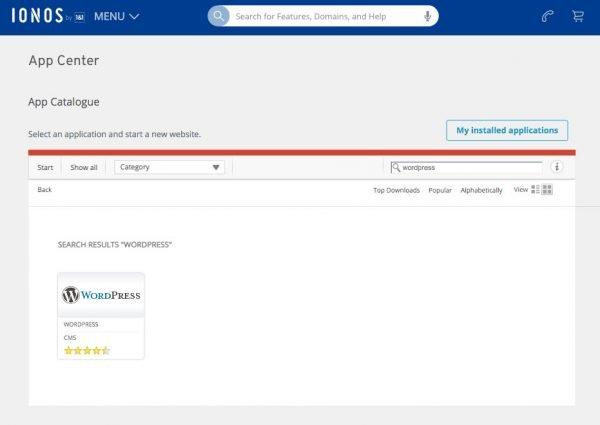 """Installatron - IONOS Apps Installer """"Click and Build"""""""