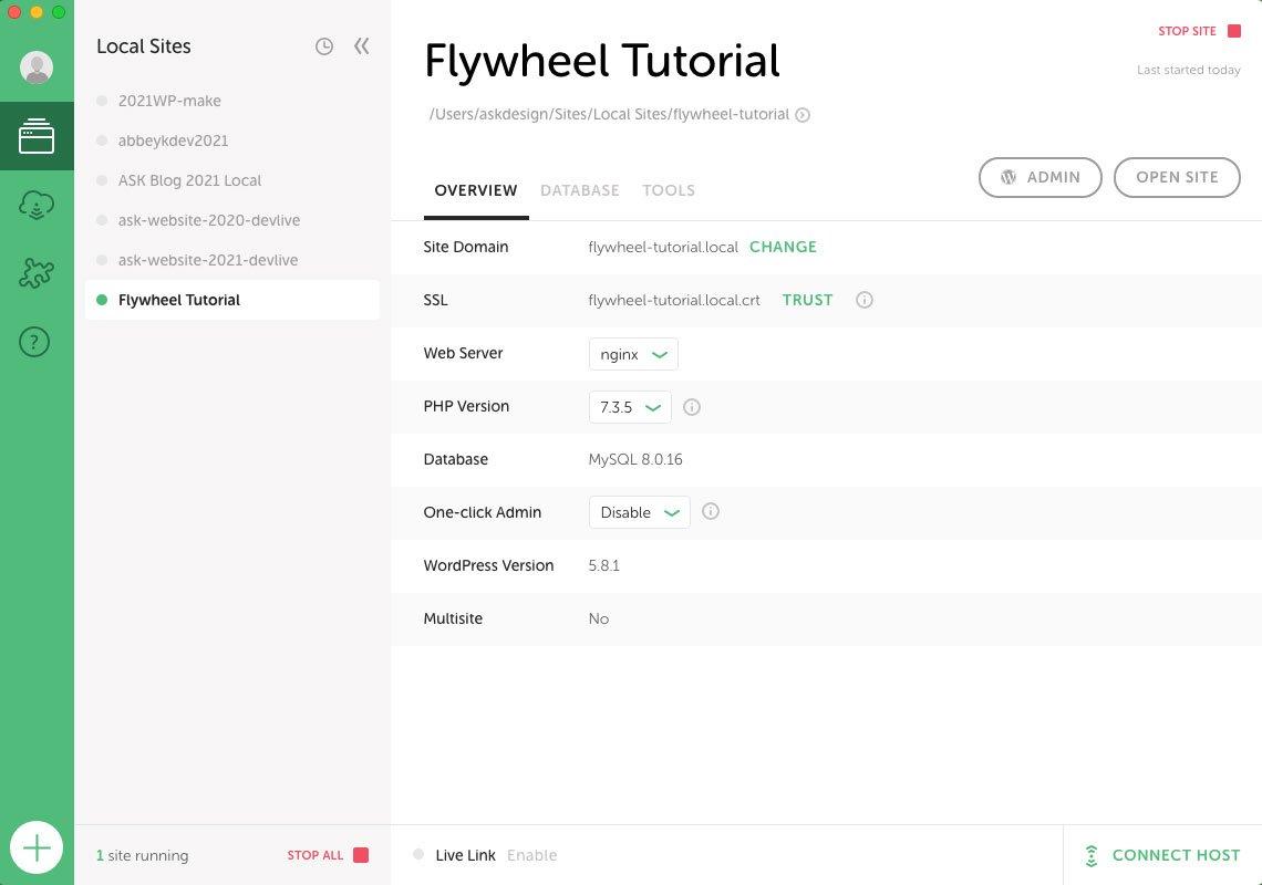 Flywheel site overview
